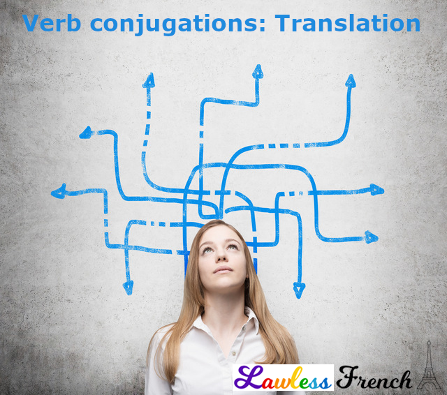 French verb conjugation translations