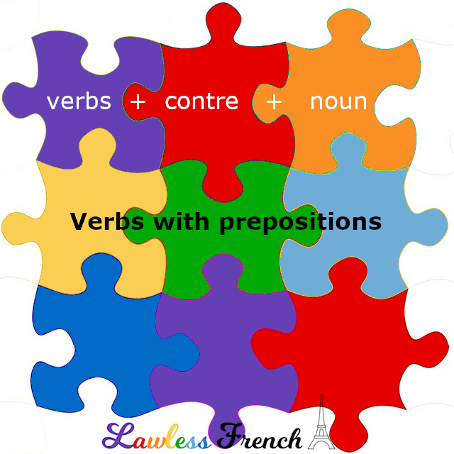 French verbs with contre