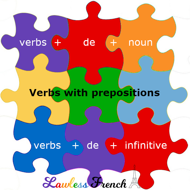 French verbs with de