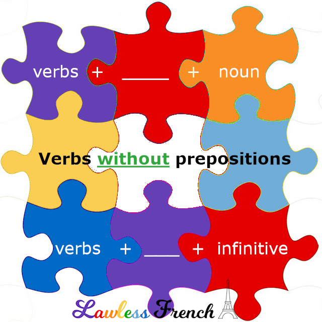 French verbs that do not require prepositions