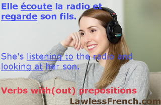 French verbs w/o prepositions