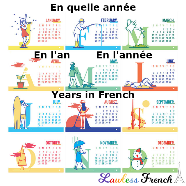 Talking about the year in French